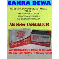 Aki Motor YAMAHA R15 Gel Bergaransi resmi 12 bln JAP JTZ5S YTZ4V GTZ5S