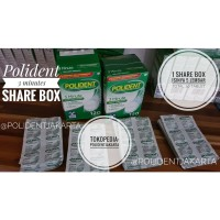 Polident 3 Minutes Tablet Share Box (1 box isi 5 lembar jad 30 tablet)