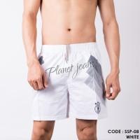 Celana pendek santai di atas lutut short pants putih boxer SSP08 - XXL