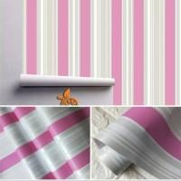 wallpaper stiker sinding motif salur pink mix silver
