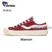 Sepatu Ventela Public Low Maroon / Ventela Public Maroon Low / Ventela