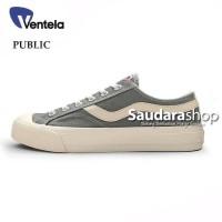 Sepatu Ventela Public Low Grey / Ventela Public Grey Low / Ventela Abu