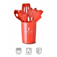 11in1 SET+STAND Silicone Kitchen Utensil Set Spatula Cooking Set PEFE