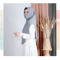 Hijab Cadar Masker 2in1 With Pad Jersey Super Premium