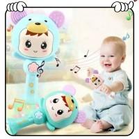 Mainan Bayi Tongkat Rattle + Teether+ Musik + Lampu Kelap Kelip