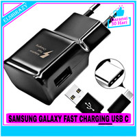 Charger Fast Charging Samsung Galaxy S10 Original 100% USB Type C - Hitam
