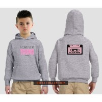 hoodie sweater anak black pink forever young - high quality