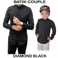 Kemeja Batik Couple Ayah Dan Anak Diamond Modern