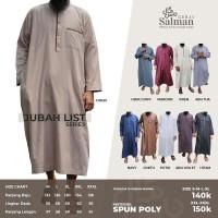 Jubah Pria / Gamis Pria Zain Model List Bahan Spunpoly