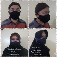 Masker ninja PE poliester +busa(tdk pengap.nyama.tebal) size besar