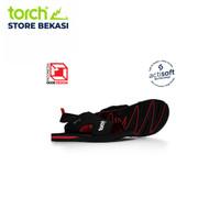 TORCH Sandal Arrafa Actisoft Black Red - 36