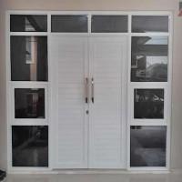 Pintu rumah | pintu ruko | pintu kantor (Spanrel / panel Aluminium)