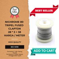 TRIPLE FUSED CLAPTON NI80 28*3+38g |1Meter