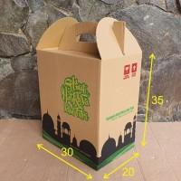 Produk Unggulan Box Bingkisan Kardus Parcel Lebaran uk 30x20x35cm