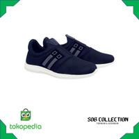 Sepatu Slip On Running Casual Sporty Sneakers Anak Laki-laki - Hitam