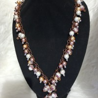 kalung perhiasan mutiara swarovzki variasi crystal jepang