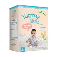 Yummy Bites Baby Rice Crackers Snack Bayi Biskuit Bayi 50 g - Original