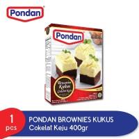 Pondan Brownies Kukus Rasa Coklat Keju 400g Tepung Brownies Kukus Mix