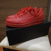 Nike Air Jordan 2 Retro Low GYM RED sz 9.5 US Full Set. Red October