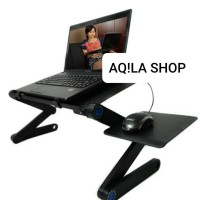 murah meriah sejagat meja laptop portable aluminium with cooler bigfan