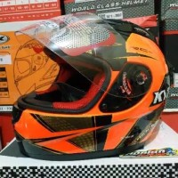 HELM KYT RC SEVEN MOTIF SERI 16 RED FLUO GOLD BLACK HELM TOURING KYT