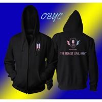 sweater hoodie zipper BTS the biggest love army - jaket perempuan