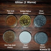 Glitter Bubuk 50 Gr Kosmetik Nail Art Resin Kutek Aksesoris