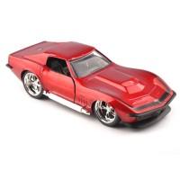 1/32 JADA Alloy Diecast 1969 Corvette StingRay ZL-1 Vehicle Red Car