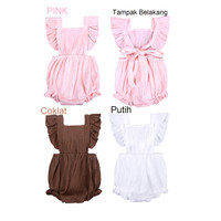 Baju Bayi Cewek Imut / Romper Bayi Cewek / Baju Kodok anak Cewek