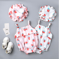 Jumper Bayi Cewek Set / Romper Bayi Cewek / Baju Kodok anak Cewek