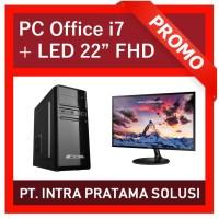 "PC Core i7-3770 + RAM 16GB + HDD 1TB + Nvidia GT730 + LED 22"""