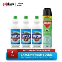 Bayclin Fresh 500ml dan Baygon Aerosol Eucalyptus