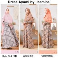Dress Ayumi Size L-XXL -Hanya Dress- Gamis Syari Crepe HQ by Jasmine