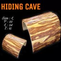 Hiding Cave Kayu L-tempat sembunyi sulcata-tempat sembunyi reptil