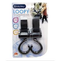 LB7640 LOOPY SWIVEL STROLLER HOOK BLACK- 1 SET ISI 2