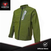 INVENTZO - LAZARO Alpha - Jaket Motor Tahan Angin Pria - Army Green