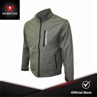 INVENTZO - TITANIO Alpha - Jaket Motor Tahan Angin Pria - Grey