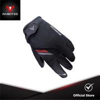 INVENTZO Harro Black - Sarung Tangan Motor Sensitive Touch Tip