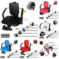 Paket Kursi Bonceng Anak Motor Matic + Helm Retro