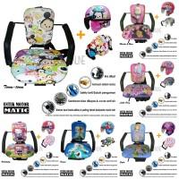 Kursi Bonceng Anak Motor Matic + Helm Retro + Bantal Setir Motor