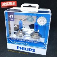 Philips Diamond Vision H7 55 Watt - Lampu Halogen Mobil Putih 5000K