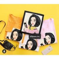 Tumblr Tee/Shirt/Kaos Wanita Lengan Panjang JOY TSHIRT - ELLIPSES.INC