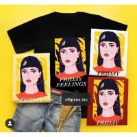 Tumblr Tee/T-Shirt/Kaos Wanita Lengan Pendek FRIDAY FEELINGS-ELLIPSES