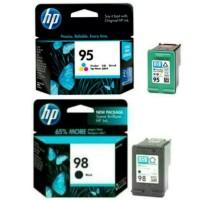 PAKETAN TINTA HP 98 BLACK DAN 95 COLOR ORIGINAL