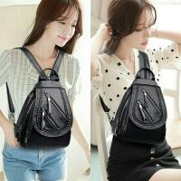 Tas Ransel Mini Selempang Dada Backpack Wanita Waistbag Waist Bag Zhip