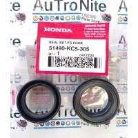Oil Dust Seal Shock Depan Set Front 51490-KC5-305 Honda GL Max Tiger