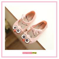 Jelly Shoes Owl / Flatshoes Anak Perempuan