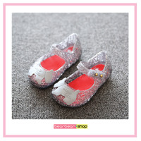 Jelly Shoes Gliter / Flatshoes Anak Perempuan