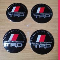 sticker stiker lapisan tutup dop velg mobil logo TRD racing developmen