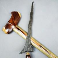 Keris Pamor Setro Banyu Carubuk Luk 7 Tangguh Pajajaran Abad XIV Sepuh